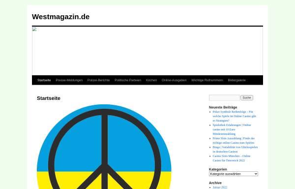 Vorschau von www.westmagazin.info, Westmagazin Now D-Sign und Druck