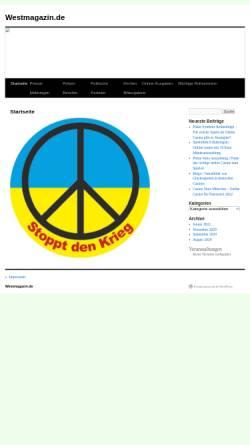 Vorschau der mobilen Webseite www.westmagazin.info, Westmagazin Now D-Sign und Druck