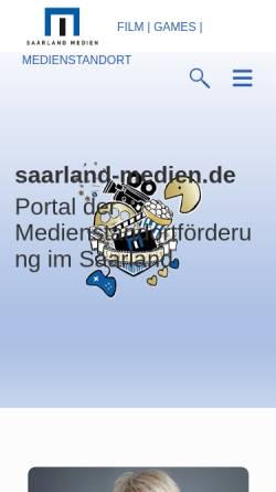 Vorschau der mobilen Webseite www.saarland-medien.de, Saarland Medien GmbH