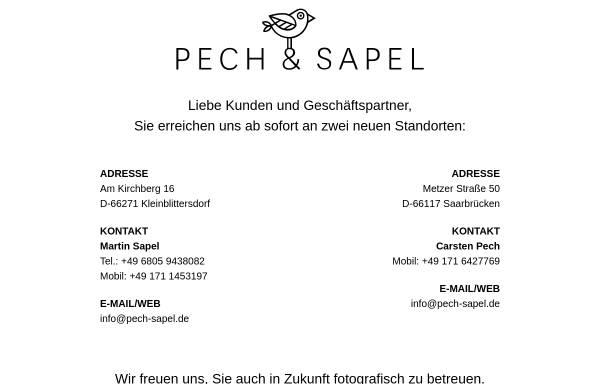 Vorschau von pech-sapel.de, Werbefotografie Pech & Sapel