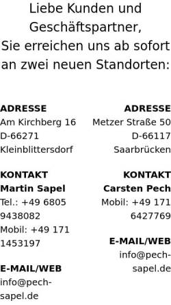 Vorschau der mobilen Webseite pech-sapel.de, Werbefotografie Pech & Sapel