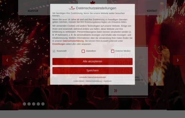 Vorschau von www.friends-event.de, Friends* Gesellschaft für Events, Marketing & Kommunikation mbH