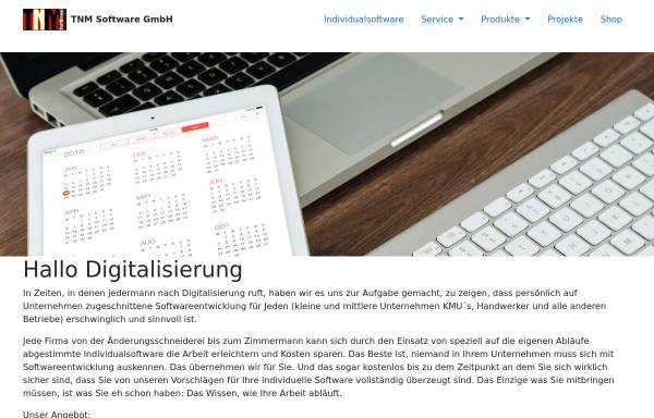 Vorschau von www.tnmsoftware.de, TNM Software GmbH