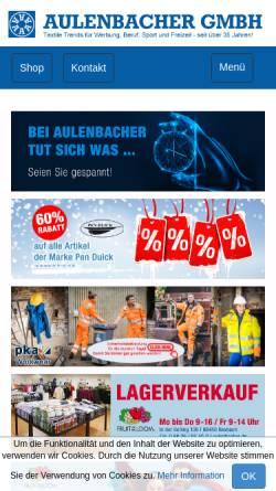 Vorschau der mobilen Webseite www.aulenbacher.de, Aulenbacher GmbH