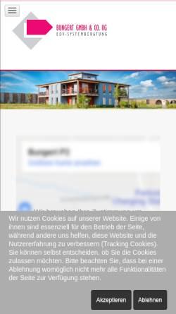Vorschau der mobilen Webseite www.bungert.de, Bungert GmbH & Co. KG