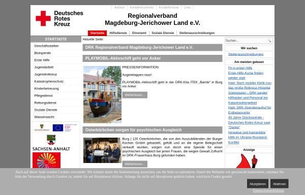 Vorschau von www.drk-mdjl.de, Regionalverband Magdeburg-Jerichower Land e.V.
