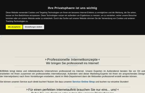 Vorschau von www.b2b-web.de, B2BWeb Inh. Ralf Hillmann, Finneland OT Saubach
