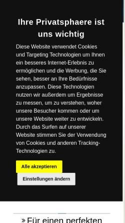 Vorschau der mobilen Webseite www.b2b-web.de, B2BWeb Inh. Ralf Hillmann, Finneland OT Saubach