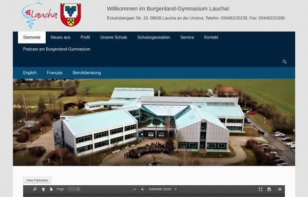 Vorschau von burgenland-gymnasium.de, Burgenland-Gymnasium Laucha