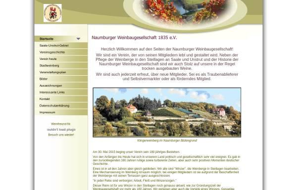 Vorschau von www.naumburger-weinbaugesellschaft.de, Naumburger Weinbaugesellschaft 1835 e.V.
