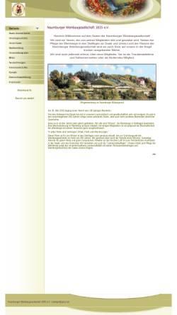 Vorschau der mobilen Webseite www.naumburger-weinbaugesellschaft.de, Naumburger Weinbaugesellschaft 1835 e.V.