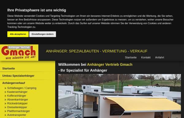 Vorschau von www.anhaenger-gmach.de, Anhängervertrieb Michael Gmach, Kleinwethau