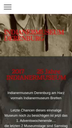Vorschau der mobilen Webseite www.indianermuseum.com, Indianermuseum