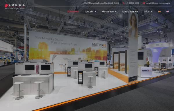 Vorschau von www.loewe-messebau.de, Loewe Messebau Deutschland AG & Co.KG