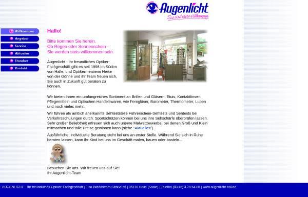 Vorschau von www.augenlicht-hal.de, Augenlicht