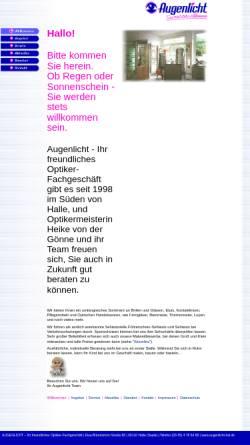 Vorschau der mobilen Webseite www.augenlicht-hal.de, Augenlicht