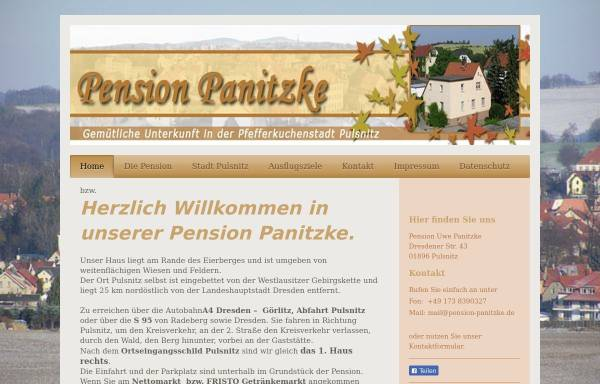Vorschau von www.pension-panitzke.de, Pension Panitzke