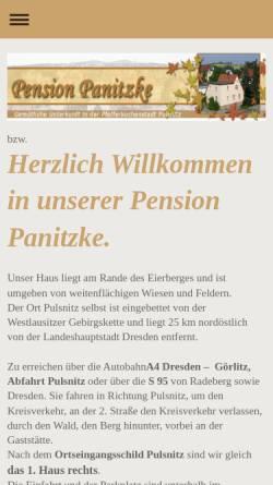 Vorschau der mobilen Webseite www.pension-panitzke.de, Pension Panitzke