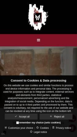 Vorschau der mobilen Webseite www.raumausstatter-maikhoyer.de, Raumausstatter Maik Hoyer