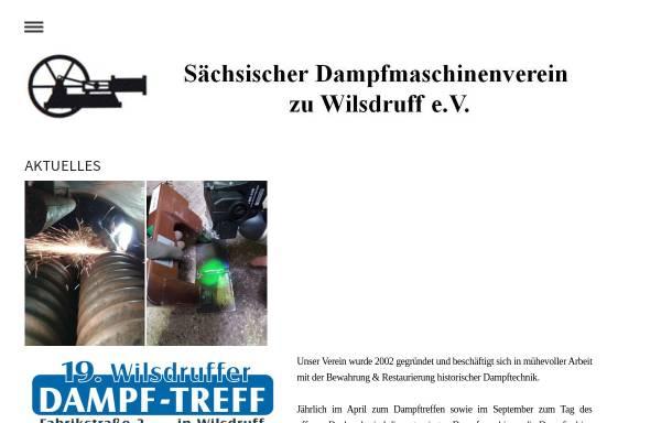 Vorschau von dampfmaschinenverein.jimdo.com, Sächsischer Dampfmaschinenverein zu Wilsdruff e. V.