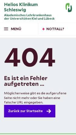 Vorschau der mobilen Webseite www.helios-kliniken.de, HELIOS Vogtland-Klinikum Plauen