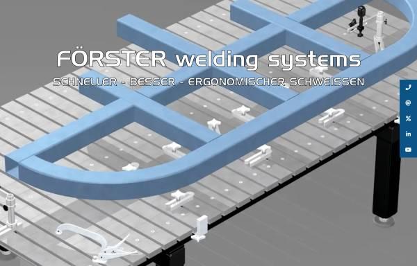 Vorschau von www.forster-welding-systems.com, Förster Welding Systems GmbH