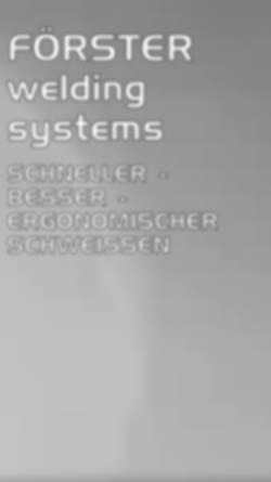 Vorschau der mobilen Webseite www.forster-welding-systems.com, Förster Welding Systems GmbH