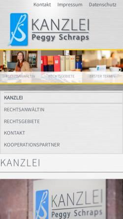 Vorschau der mobilen Webseite www.kanzlei-schraps.de, Kanzlei Peggy Schraps - Fachanwältin für Familienrecht