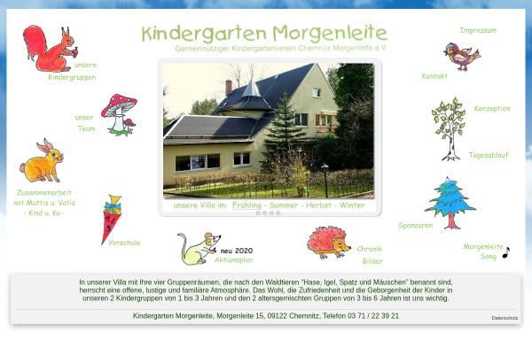 Vorschau von www.kiga-morgenleite.de, Kindergarten Morgenleite