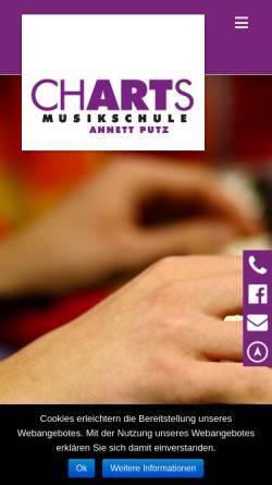 Vorschau der mobilen Webseite www.musikschule-charts.de, Musikschule Charts