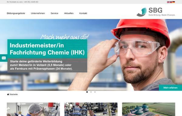 Vorschau von www.sbg-dresden.de, Sächsische Bildungsgesellschaft für Umweltschutz und Chemieberufe Dresden mbH