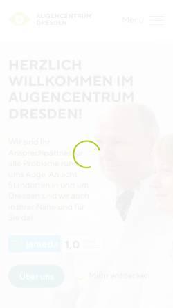 Vorschau der mobilen Webseite www.augencentrum-dresden.de, AugenCentrum Dresden