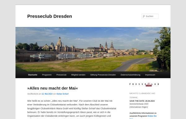 Vorschau von www.presseclub-dresden.de, Presseclub Dresden e.V.