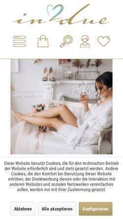 Vorschau der mobilen Webseite www.in-due.de, In due GmbH