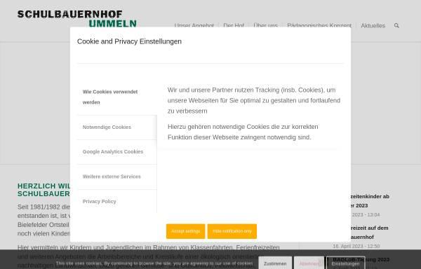 Vorschau von www.schulbauernhof-ummeln.de, Schulbauernhof Ummeln