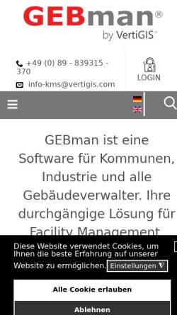 Vorschau der mobilen Webseite www.gebman.com, KMS Computer GmbH