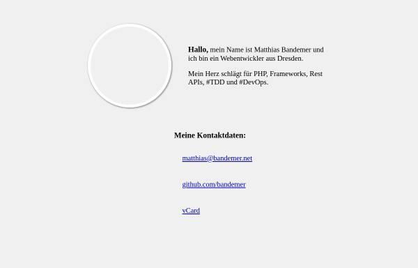 Vorschau von www.bandemer.net, Matthias Bandemer