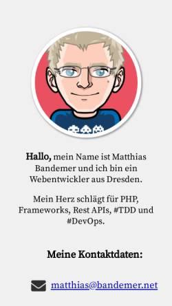Vorschau der mobilen Webseite www.bandemer.net, Matthias Bandemer