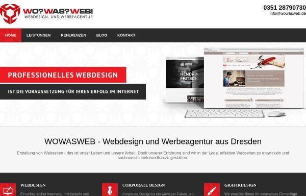 Vorschau von www.wowasweb.de, WOWASWEB