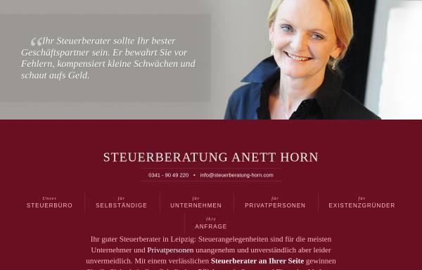 Vorschau von www.steuerberater-horn-leipzig.de, Steuerberatung Anett Horn