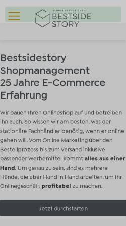 Vorschau der mobilen Webseite www.bestsidestory.de, Bestsidestory GmbH