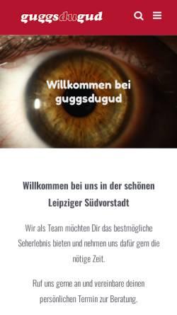 Vorschau der mobilen Webseite www.guggsdugud.de, Guggsdugud Augenoptik - Inh. Matthias Linke:
