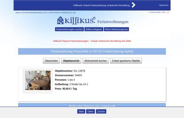 Vorschau von www.killikus-ferienwohnungen.de, Ferienwohnung Poerschke