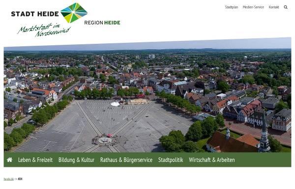 Vorschau von www.heide.de, Heide rundum - Regionalmarketing Heide und Umland
