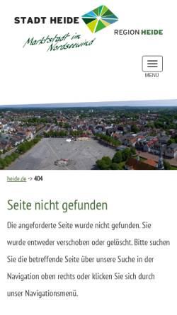 Vorschau der mobilen Webseite www.heide.de, Heide rundum - Regionalmarketing Heide und Umland