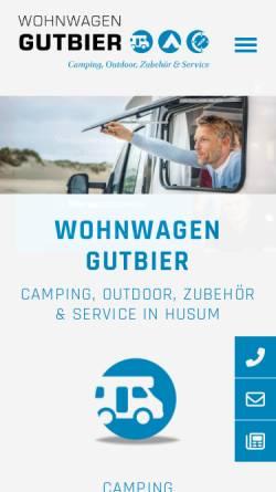 Vorschau der mobilen Webseite www.wohnwagen-gutbier.de, Wohnwagen Gutbier GmbH & Co KG