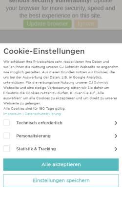 Vorschau der mobilen Webseite www.cjschmidt.de, C.J. Schmidt