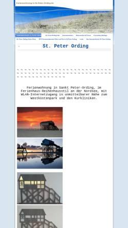 Vorschau der mobilen Webseite www.ferienwohnung-in-st-peter-ording.de, Lütt Witthues