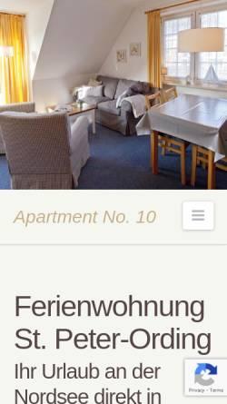 Vorschau der mobilen Webseite www.apartment-no-10.de, Apartment No. 10 im Haus Nis Randers