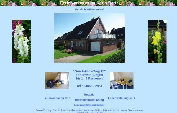 Vorschau von www.karin-bartz.de, Ferienwohnungen Karin Bartz